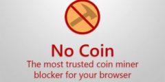 اضافة المتصفح No Coin Block miners لمنع تعدين العملات علي المتصفح