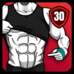 تطبيق Six Pack in 30 Days لبناء علي عضلات البطن والتخلص من الدهون للرجال